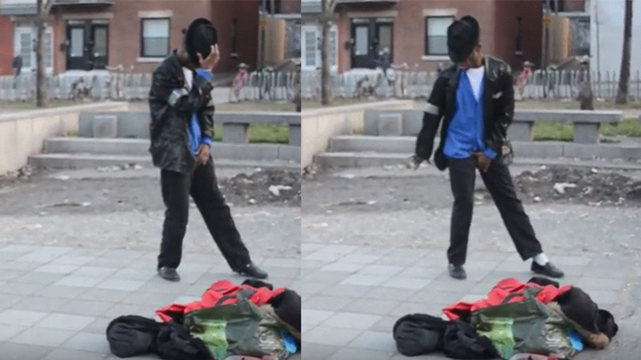 Video Showing Micheal Jackson Impersonator At Montreal's Mont-Royal Metro
