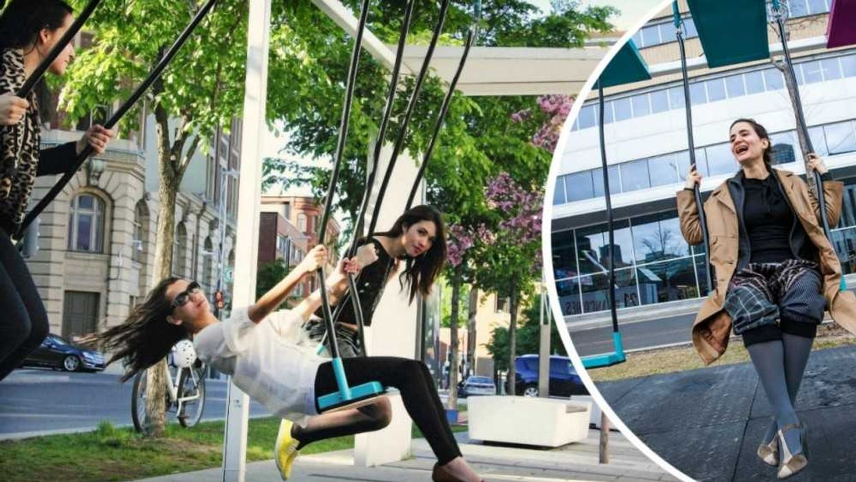 """Montreal Installing 21 Free """"Musical Swings"""" Downtown This Spring"""