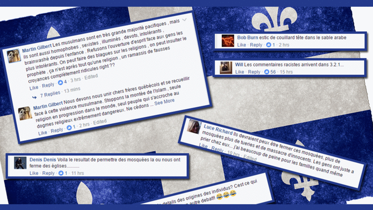 21 Racist Facebook Comments By Quebecers About The Quebec City Terrorist Attack