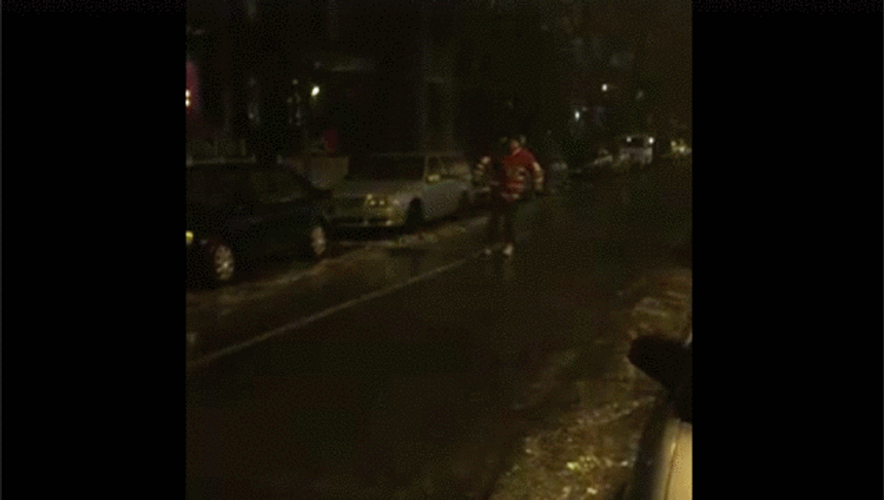 Video Showing Man Ice Skating On The Streets Of Montreal After Freezing Rain