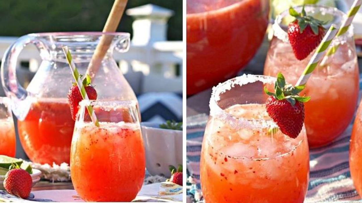 Strawberry Margarita Punch That Only Takes 5 Minutes To Make