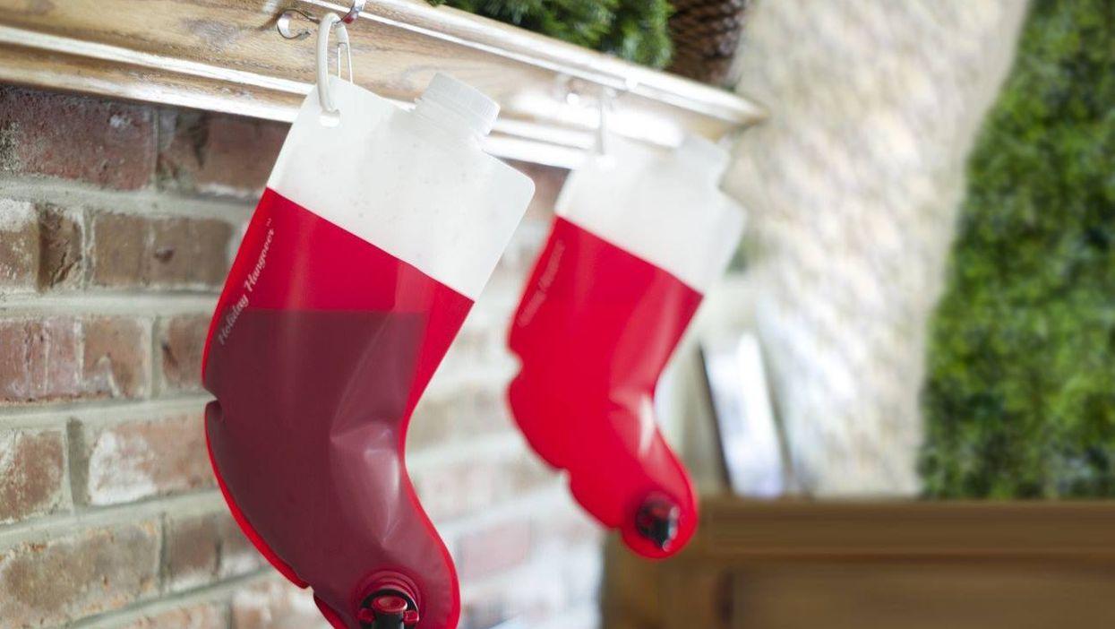 Wine Christmas Stockings? Yes, Wine Christmas Stockings!