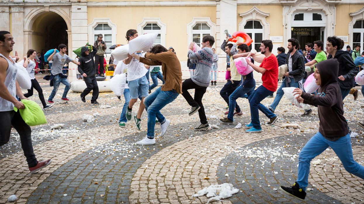 Montreal Is Hosting A Massive City-Wide Outdoor Pillow Fight
