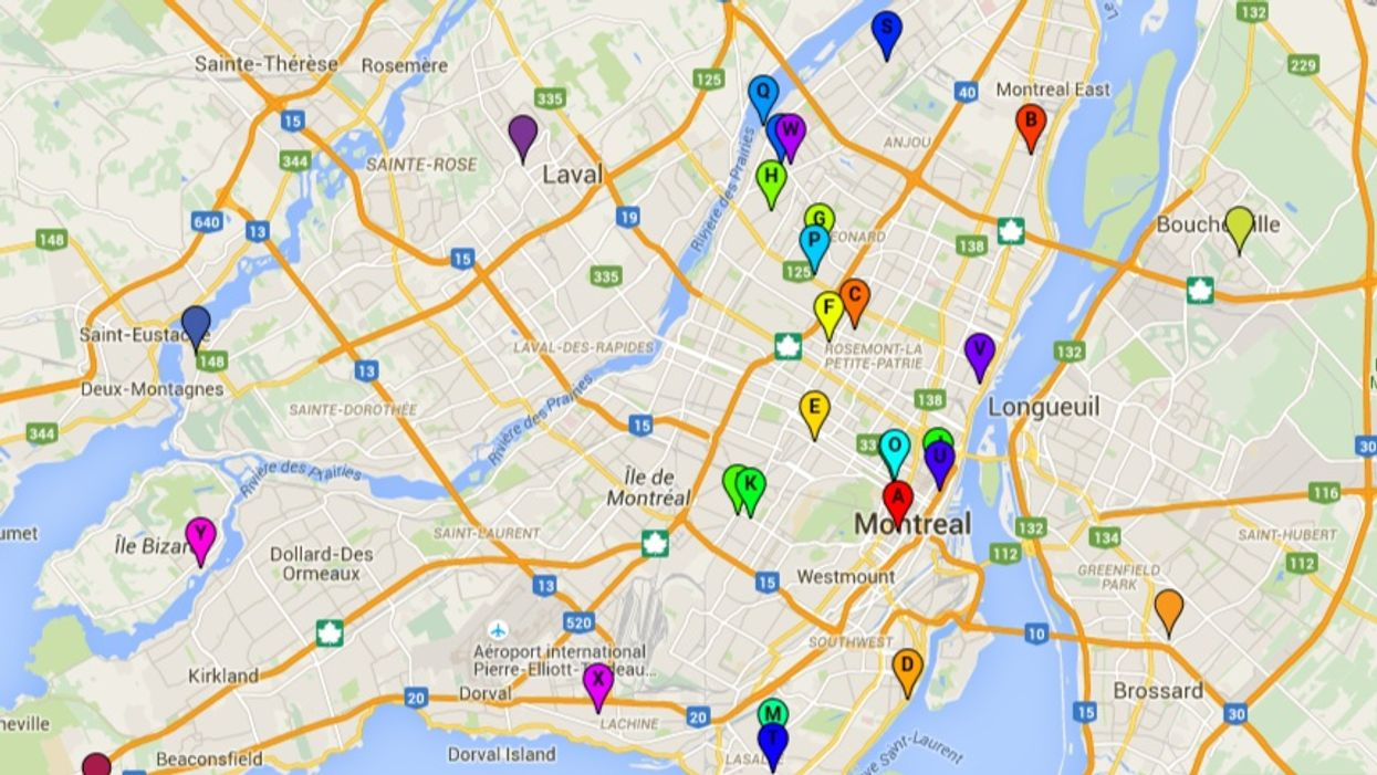 This Map Of Montreal Shows You Where Murders Are Happening In The City