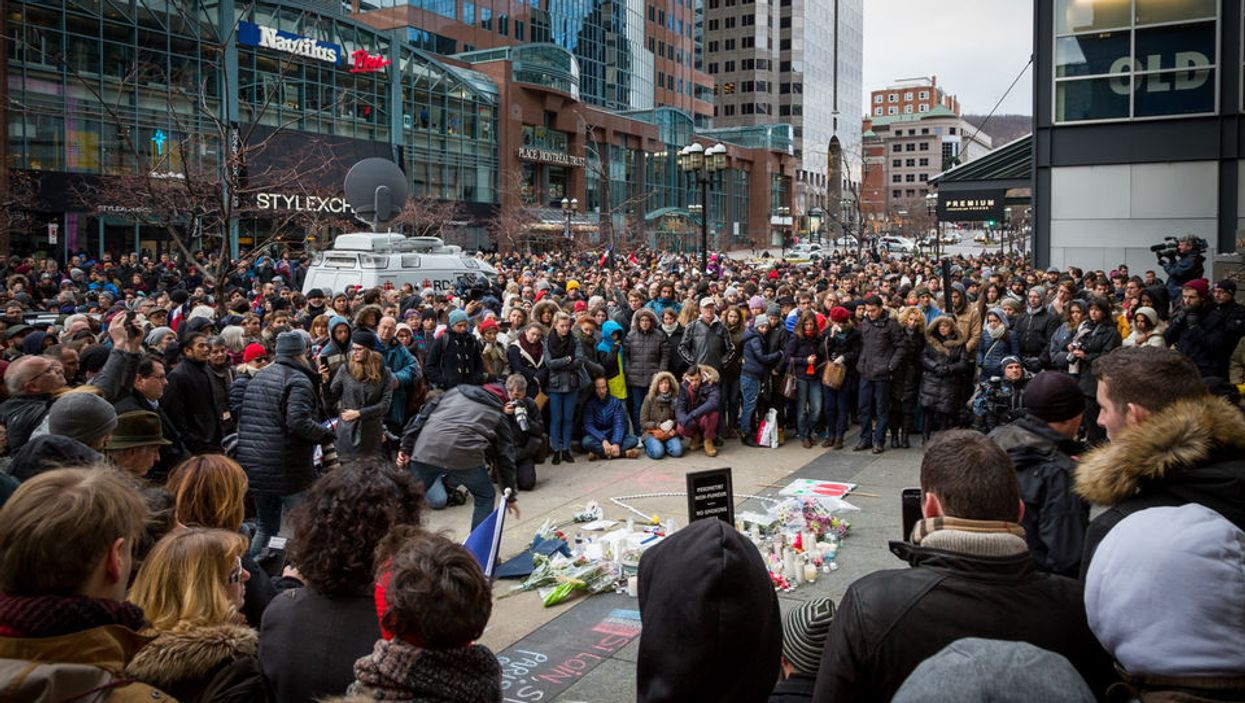 Thousands Of Montrealers Took Over Downtown To Support Paris (18 Photos)