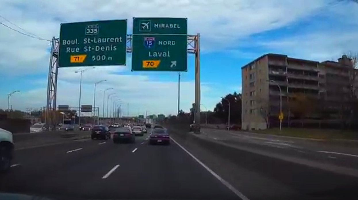 Terrifying Car Accident Spotted On Highway 40 In Montreal