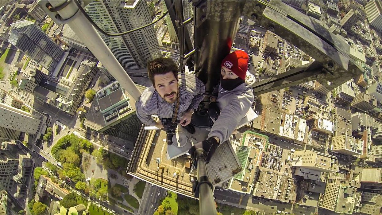 Watch As Two Guys Take A Selfie From The Highest Point In Montreal