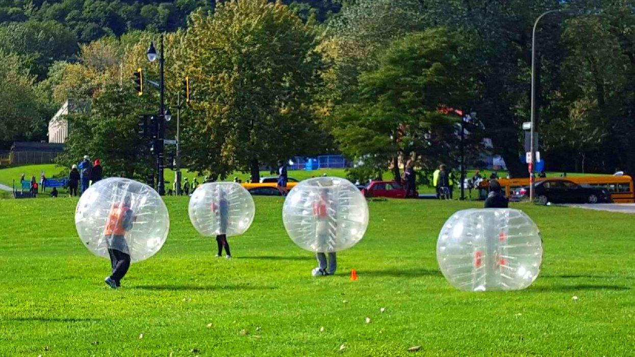 """You Can Play """"Giant Bubble Soccer"""" In Montreal"""