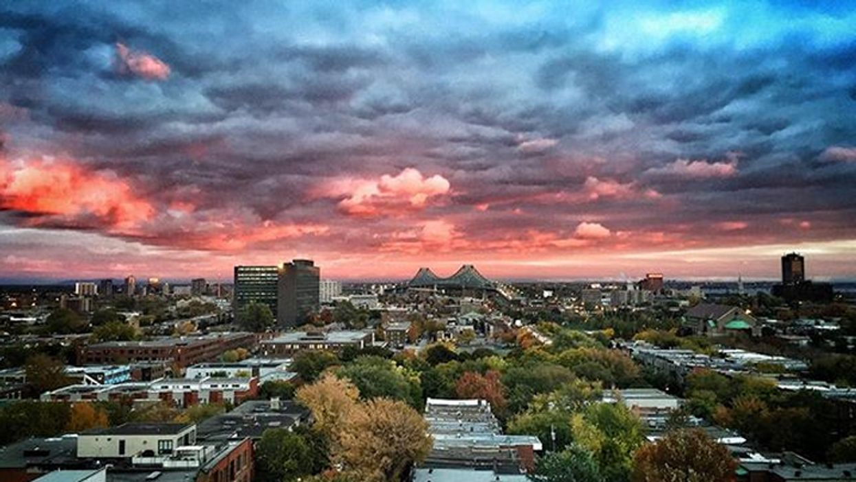 15 Photos Of Montreal's Magical Pink Sky Sunset Last Night