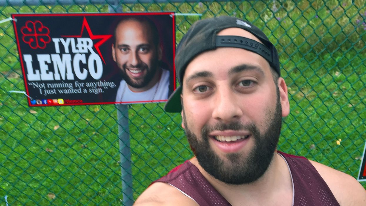 Montreal Man Makes His Own Campaign Posters For No Apparent Reason