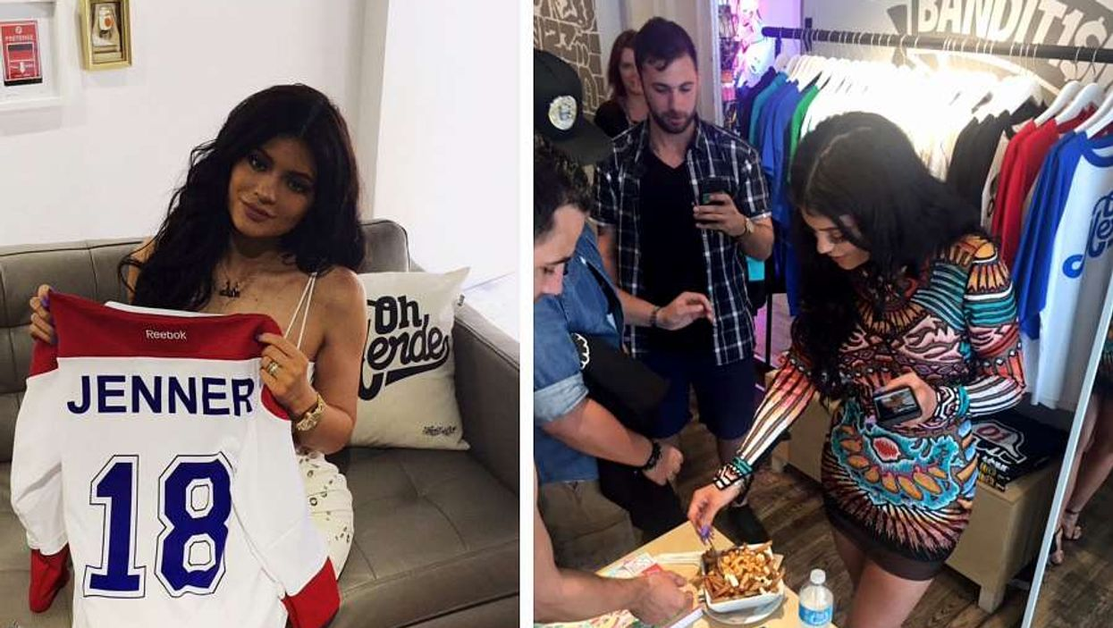 Kylie Jenner Spotted Eating Her First Ever Poutine In Montreal