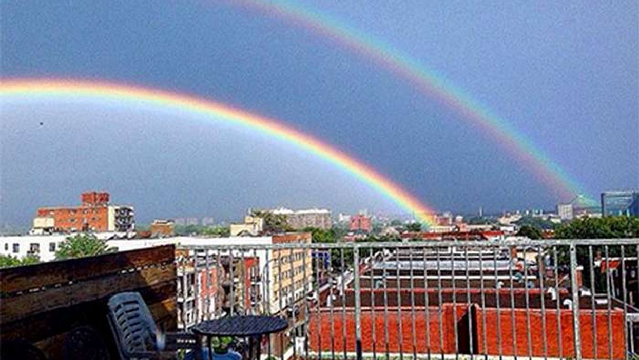 9 Photos Taken Of Montreal's Double Rainbow Over The City Yesterday
