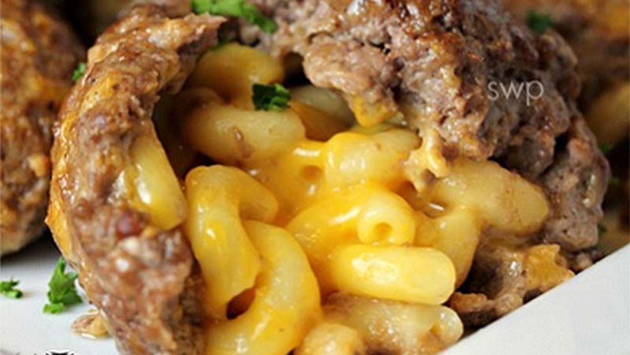 Mac & Cheese Stuffed Meatballs? Yes, Mac & Cheese Stuffed Meatballs