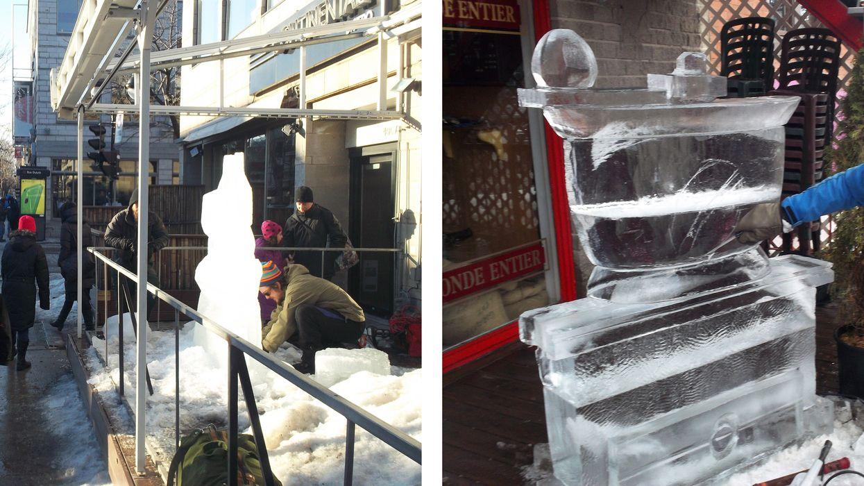 "Saint-Denis Street Is Hosting A Free ""Ice Sculpture Festival"" Next Weekend"