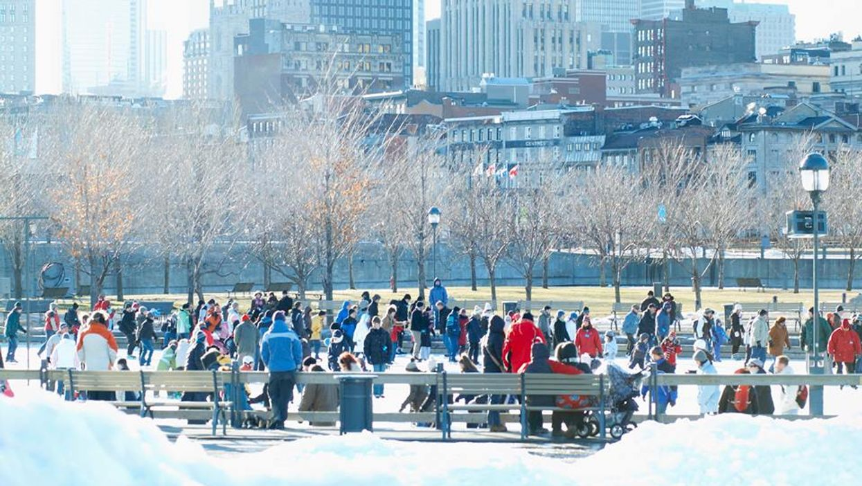 Old Montreal Will Have Free Downhill Ski Slopes This Weekend
