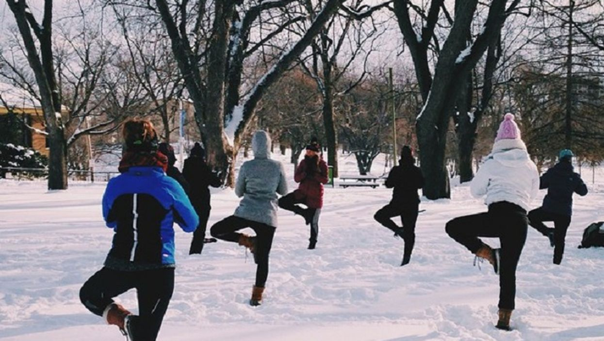 """Free """"Snow Yoga"""" In Parc La Fontaine Will Be Your Way To Stay Fit This Winter"""