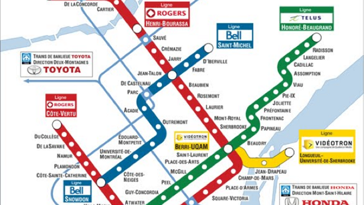 Will Brands Be Taking Over The Entire Montreal Metro?