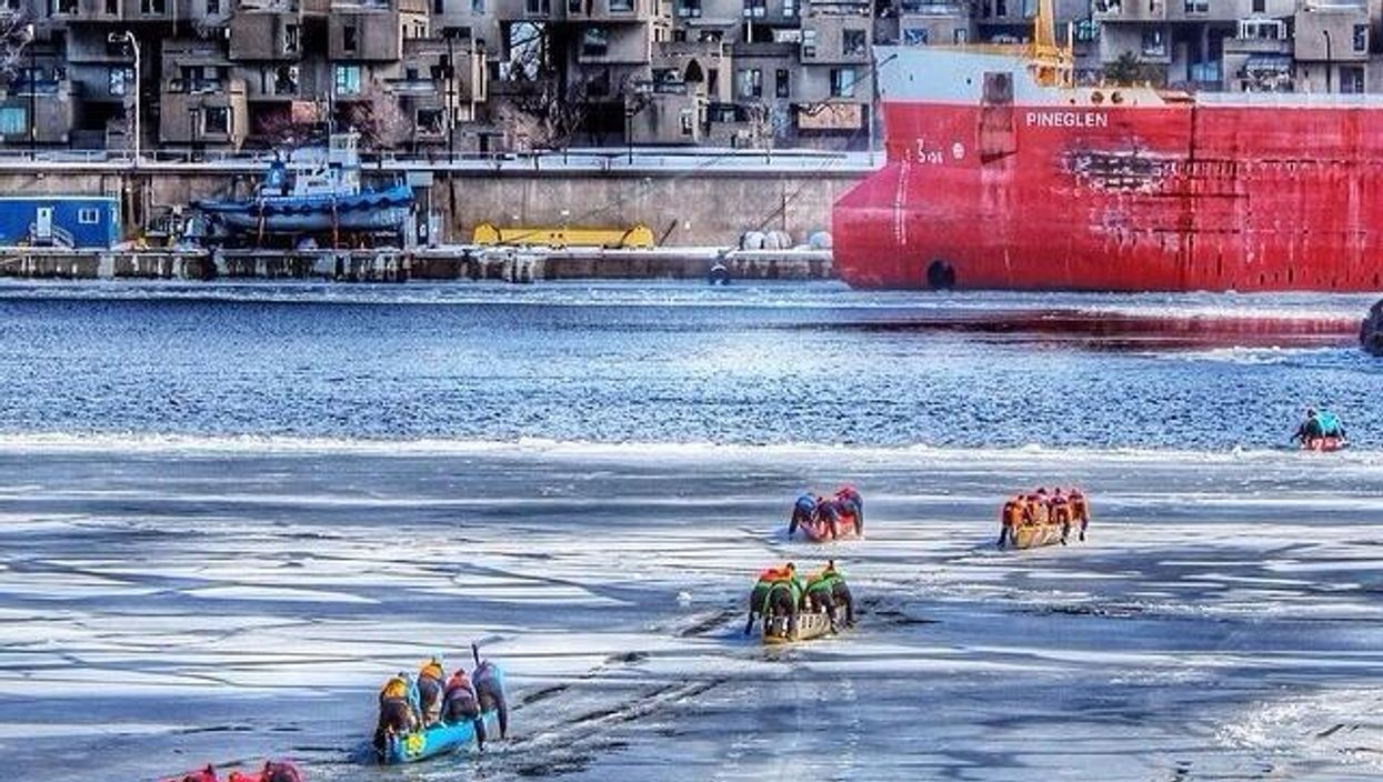 """Montreal's Old Port To Host The City's 2nd """"Ice Canoe Challenge"""" Next Month"""