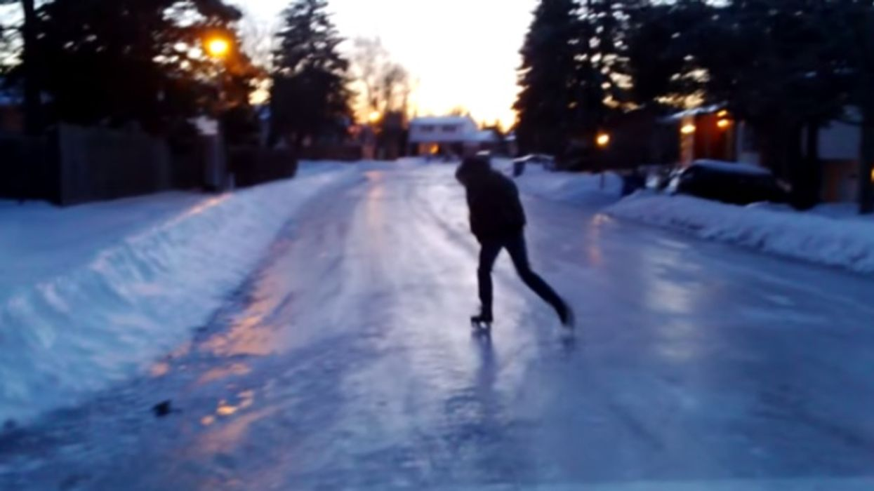 Watch Montrealers Skate Through Their Neighborhood's Streets After The Ice Storm