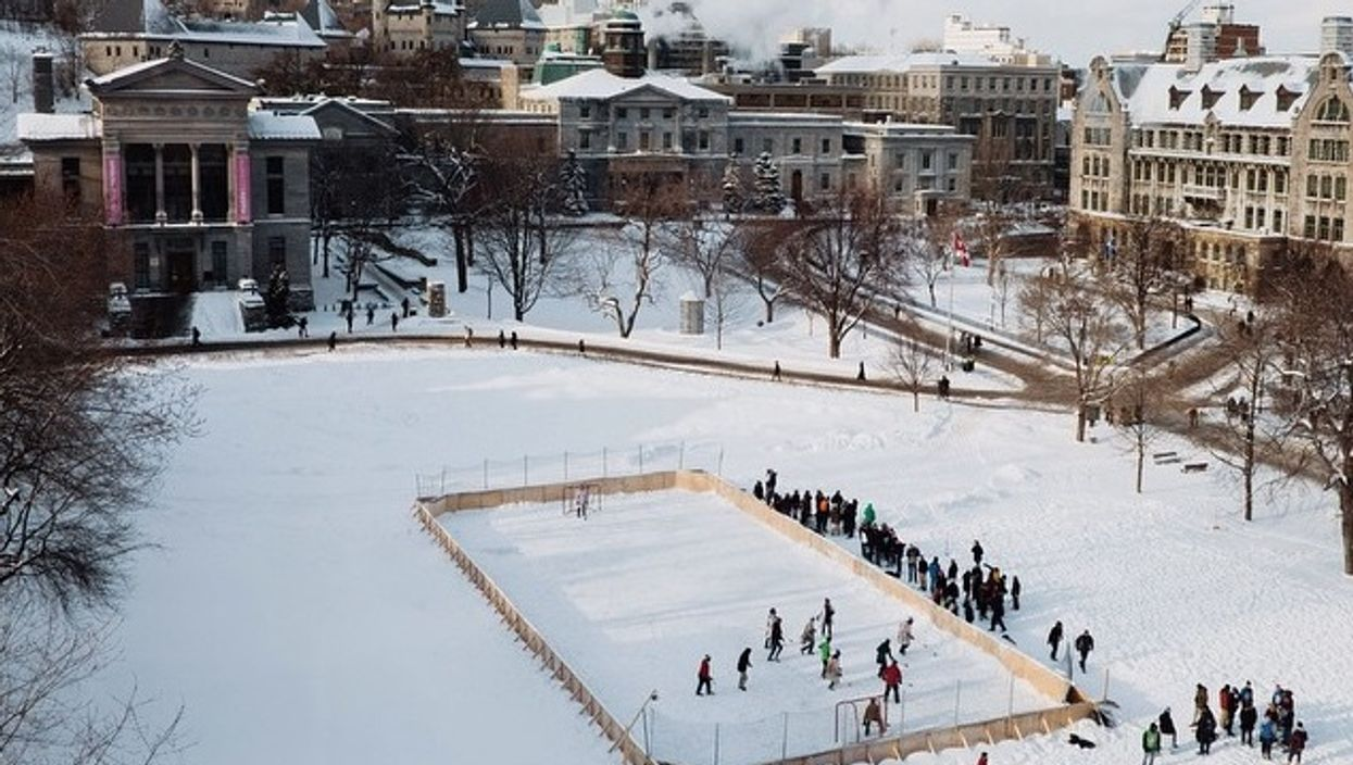 Montreal's McGill Univerisity Now Has A Free Downtown Outdoor Skating Rink