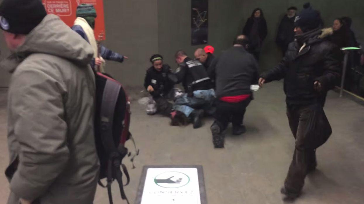 Montreal STM Cops Brutally Arrest Man At Vendome Metro For Eating A Sandwich