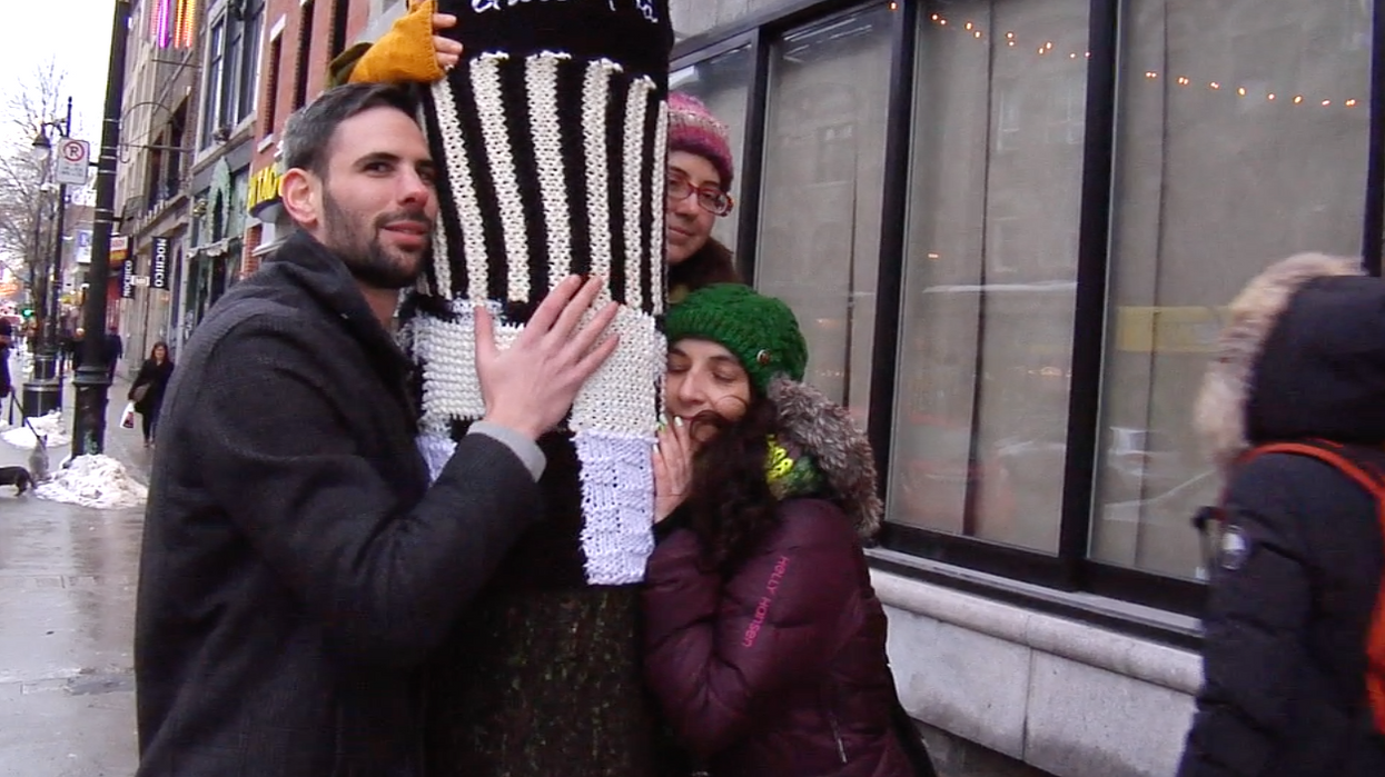 Yarn Bombing Explodes All Over Montreal