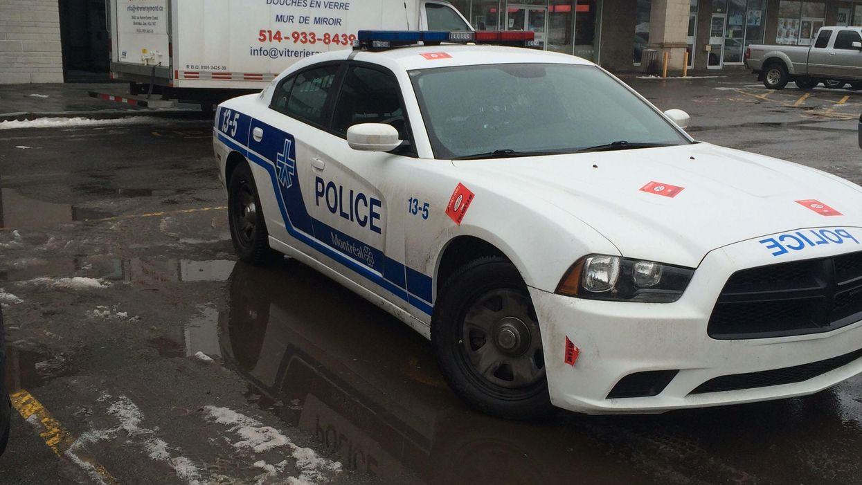 Montreal Police Car Spotted Parked In A Handicap Spot