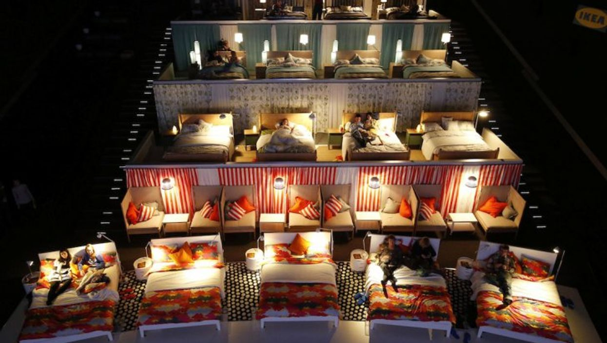 IKEA Replaces Movie Theater's Seats With Cozy Beds To Surprise Moviegoers