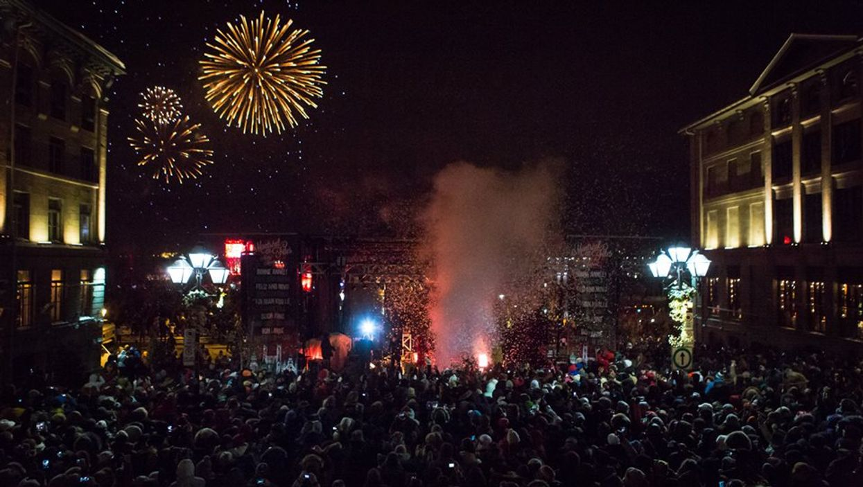 Montreal's Old Port Is Hosting A Free New Year's Party & Fireworks At Place Jacques Cartier