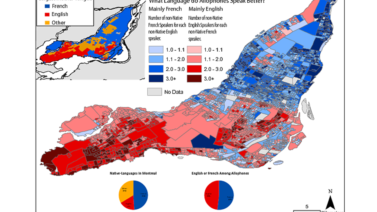 This Is Where People Speak French Or English In Montreal