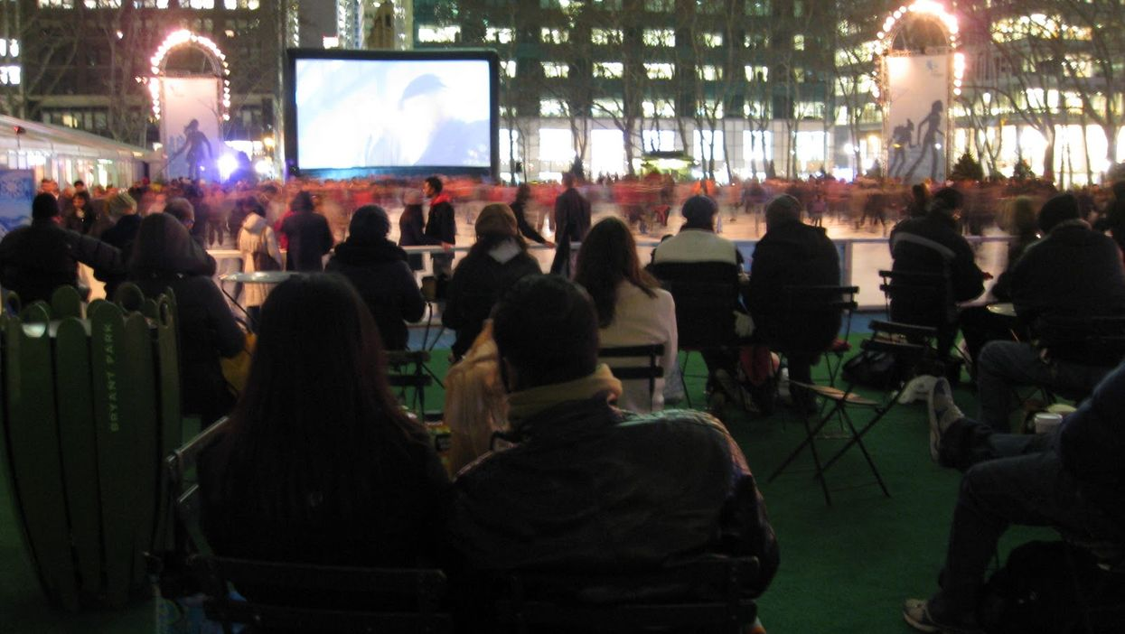 5 Free Outdoor Christmas Movie Screenings At Old Montreal's Place D'Youville To See This Holiday Season