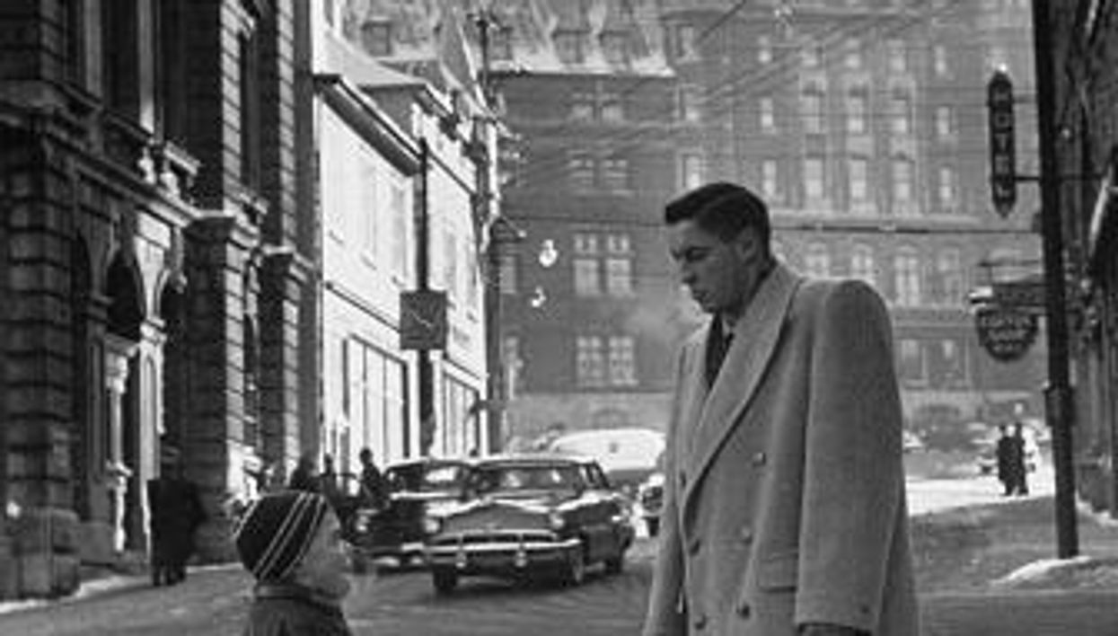 See This Man Greeting A Boy In Quebec City In 1950? You'll Never Guess Who It Actually Is