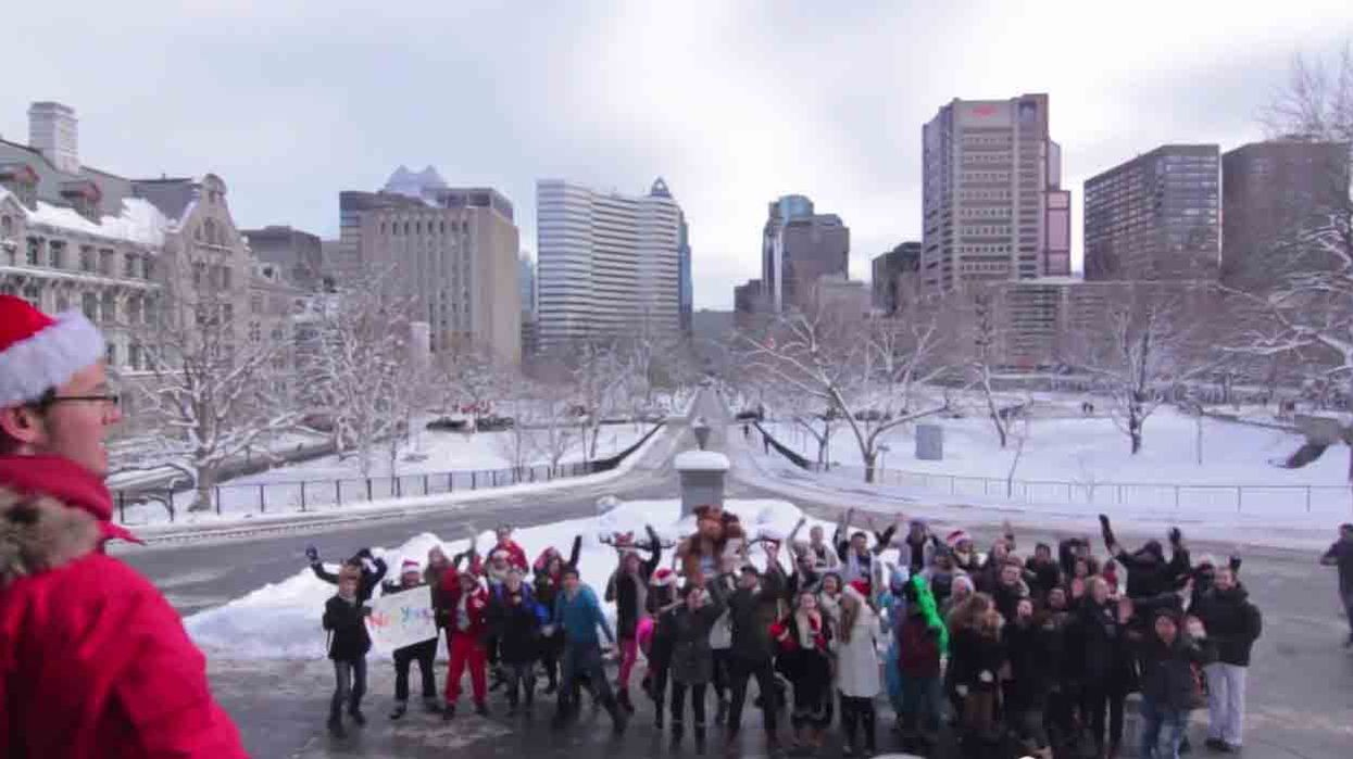 """Montreal McGill Students Lip Dub Michael Bublé's """"Christmas"""" On Campus"""