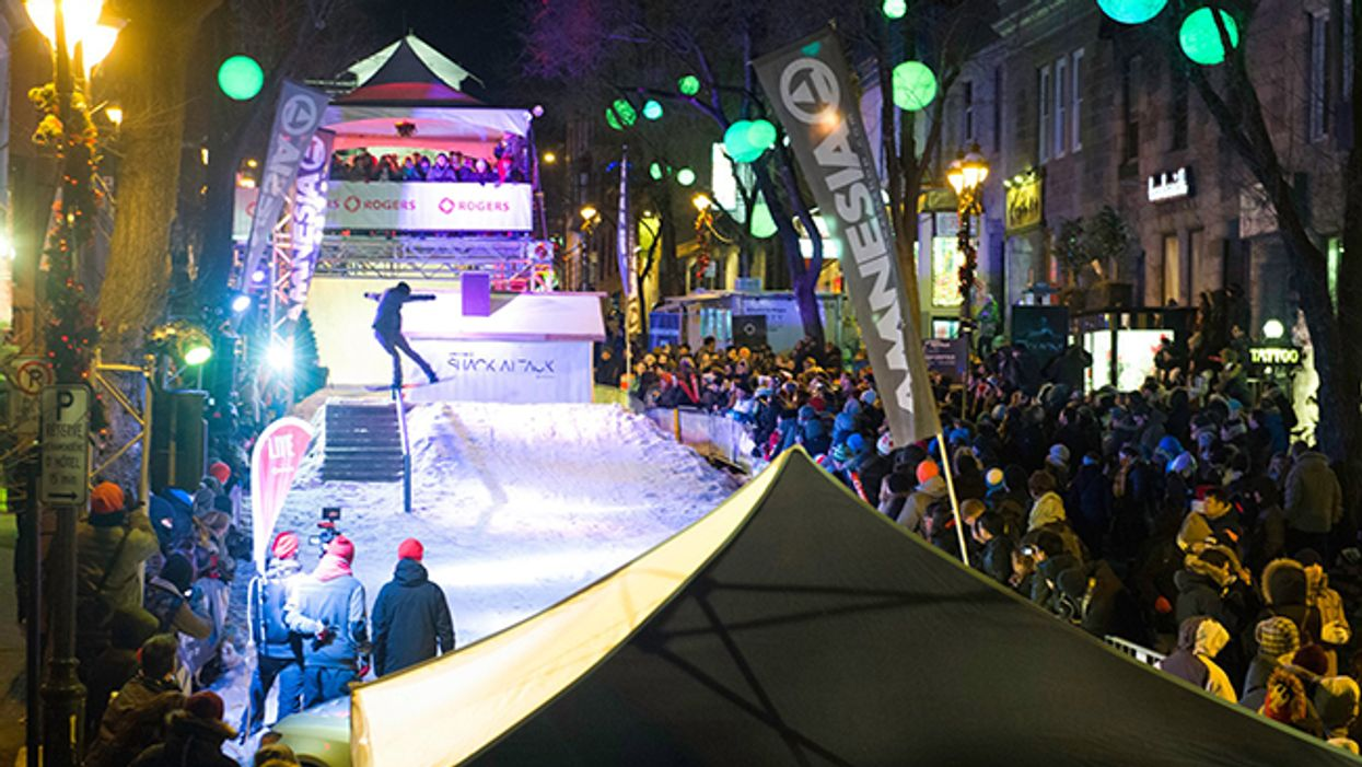 Montreal's Saint-Denis Street Will Be Transformed Into A Snowboard Park Tomorrow