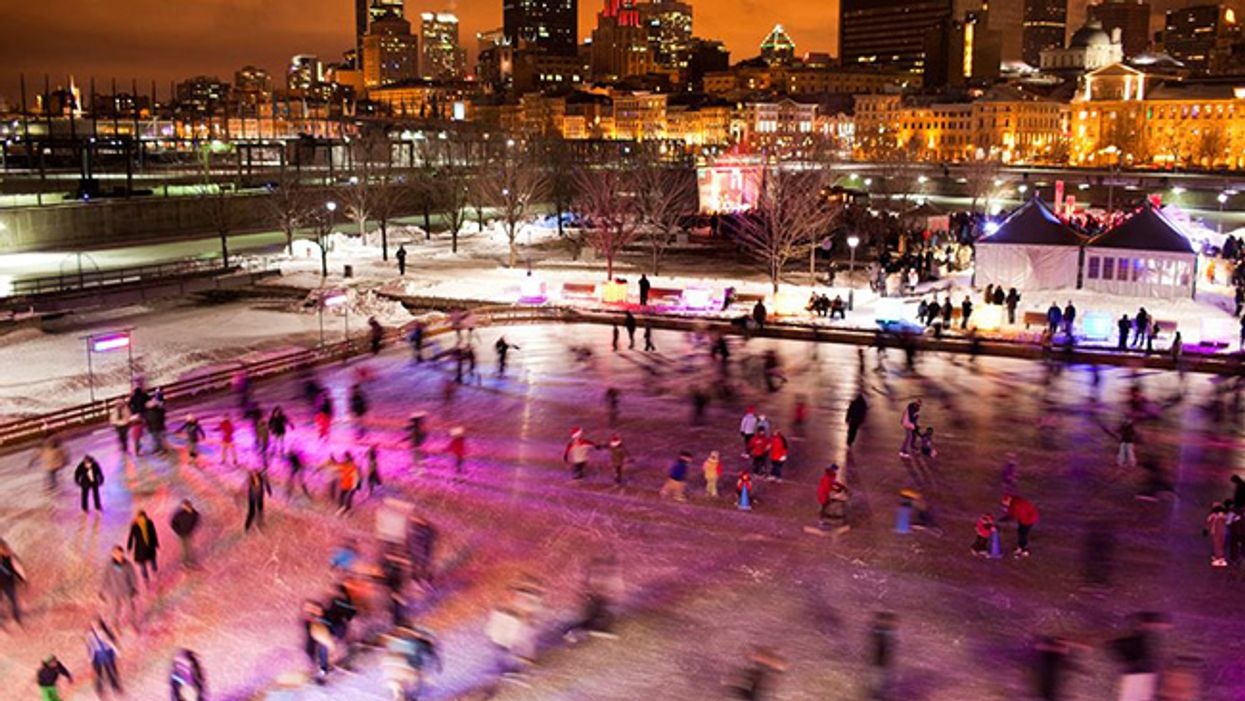 Free Montreal Old Port Skating & Hot Chocolate Day