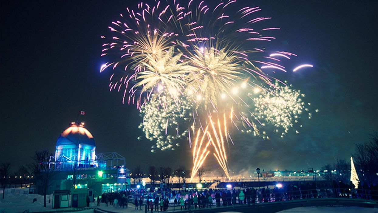 """Montreal's Old Port """"Winter Fireworks Festival"""" Begins In December 2014"""