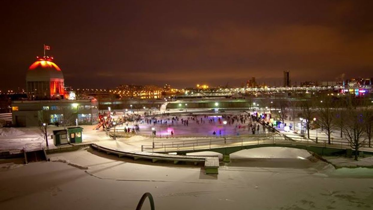 """Montreal's Old Port Is Hosting A """"Skating Rink Party"""" Tonight"""