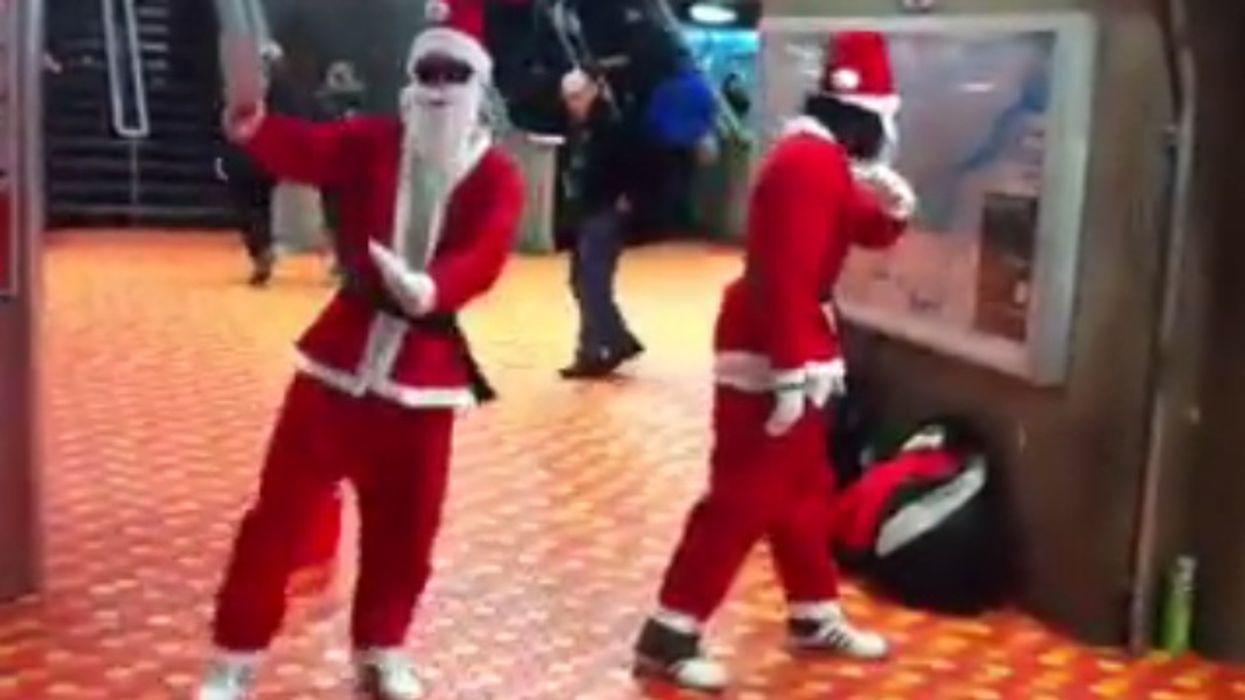 "Montreal's Lionel-Groulx STM Metro Station Now Has ""Santa Claus Break Dancers"""