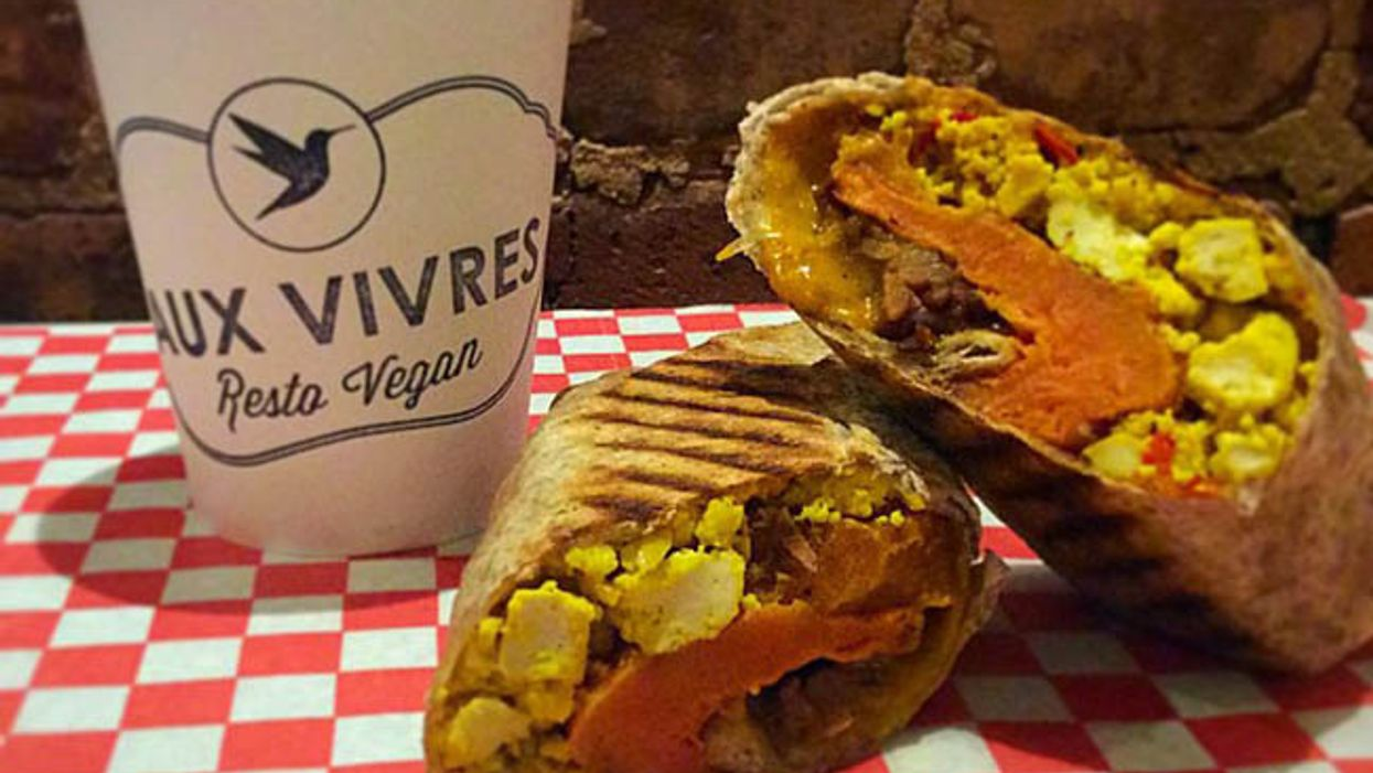 """Montreal's Aux Vivres' All-New """"Vegan Breakfast Burrito"""" Is Something To Die For"""