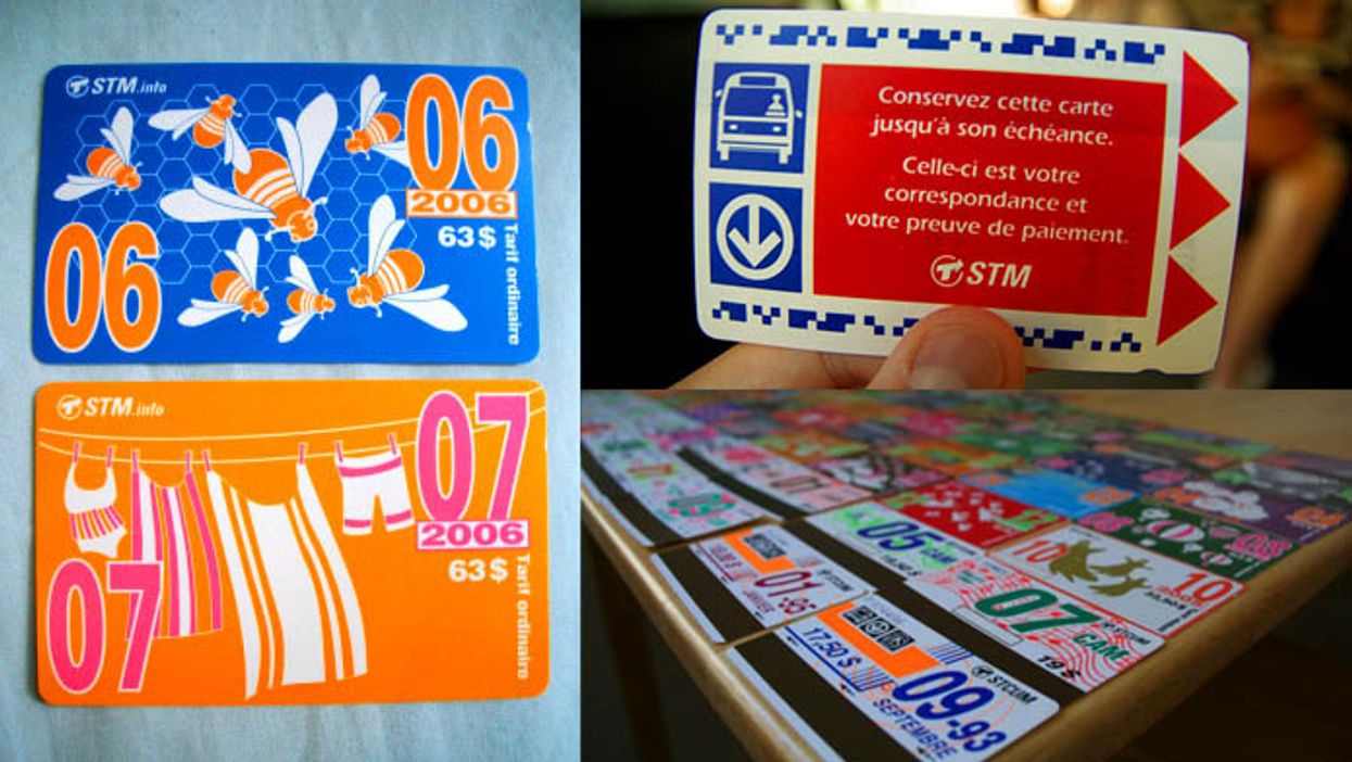 """12 Pictures Of Montreal's """"Way Cooler"""" Pre-Opus STM Passes"""