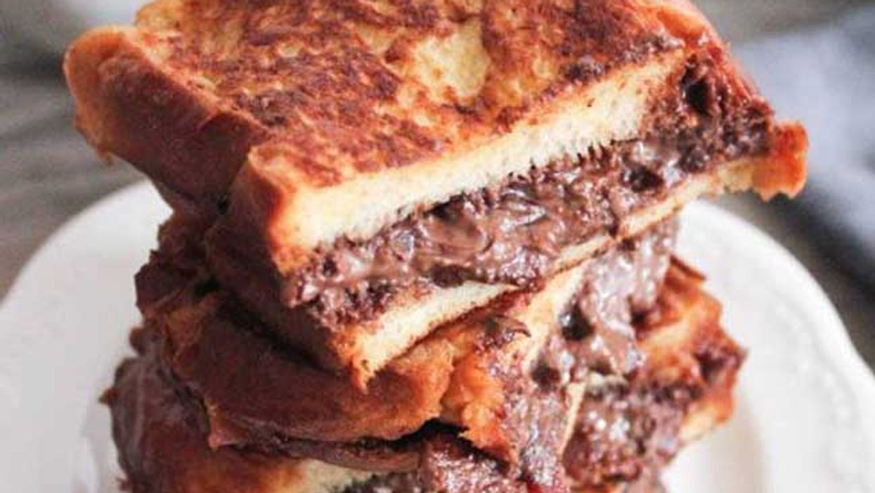 Bacon + Nutella + French Toast = The Nutella & Bacon Stuffed French Toast