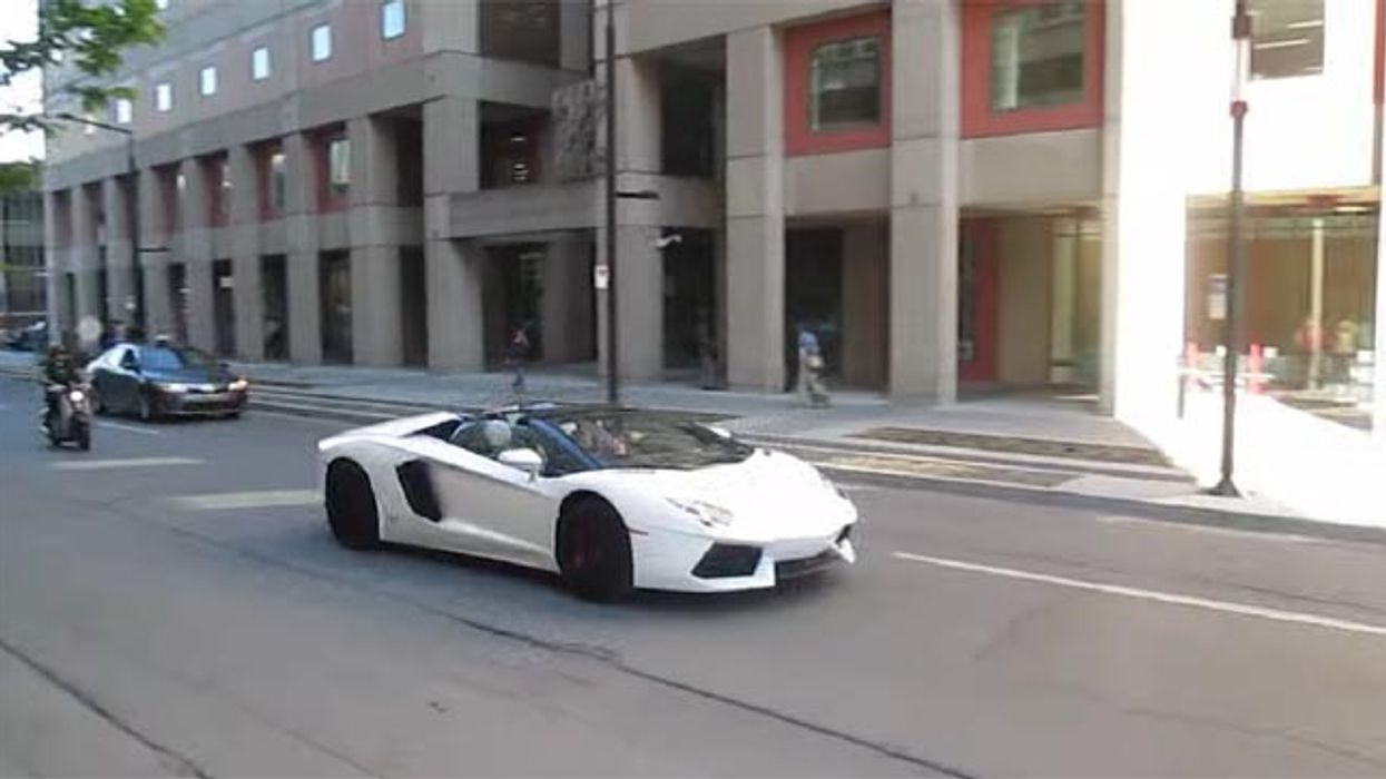 P.K. Subban Spotted In A Lamborghini Driving Down Montreal's Maisonneuve Street