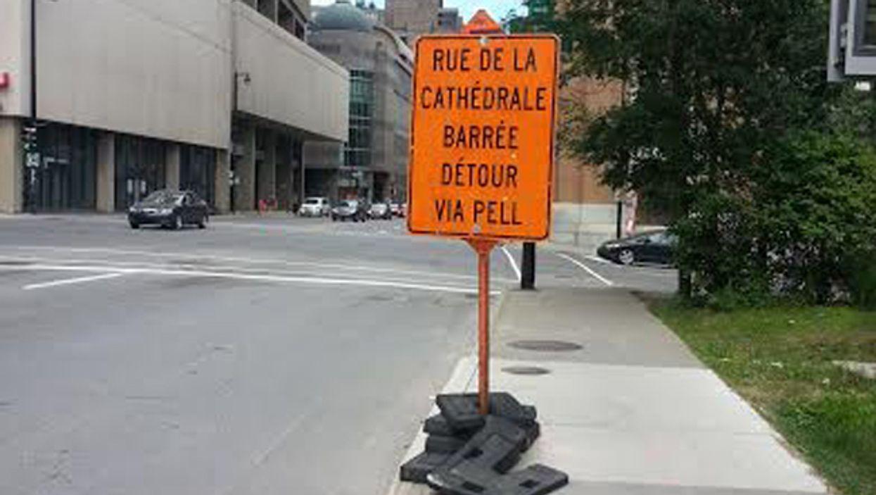 Terribly Misspelled City Street Sign Appears On Montreal's Rue De La Cathédrale