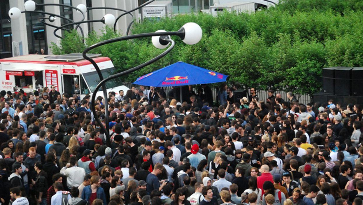 Montreal's Esplanade De La Place Des Arts Is Hosting A Free Outdoor Sunday Party Today