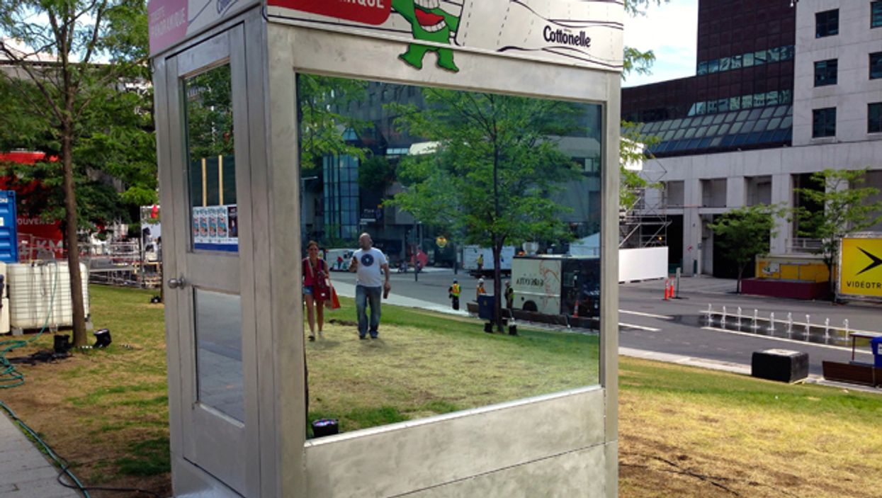 Panoramic See-Through Toilet Appears At Montreal's Quartier Des Spectacles