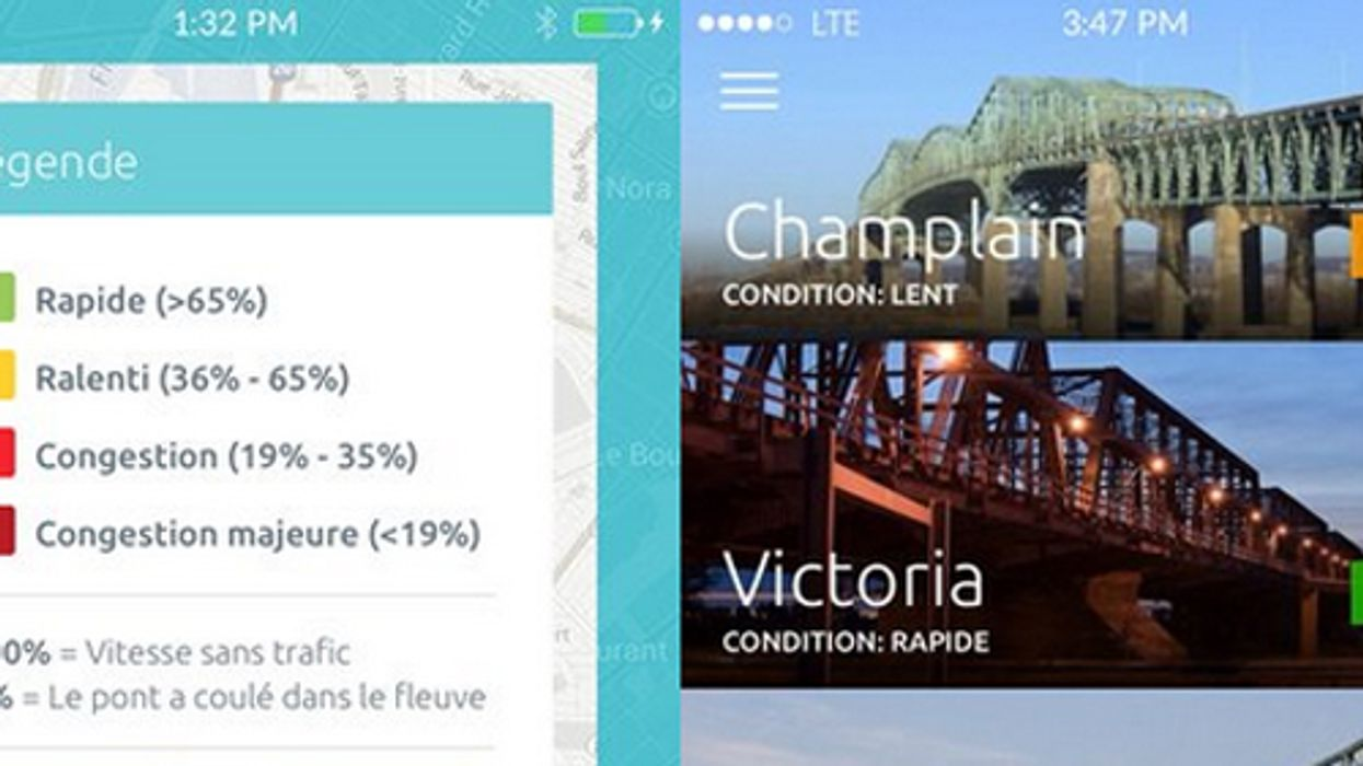 A Montreal Made App That Warns People About Traffic On The City's Main Bridges