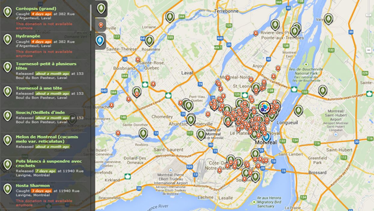 A Montreal Map To Help You Locate All Of The City's Public Summer Gardens