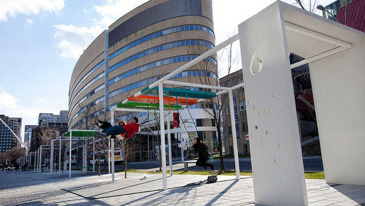 These Are Montreal's 21 Swings At Quartier Des Spectacles