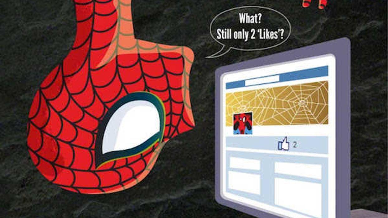 What If Superheroes Used Social Media Just Like Us?