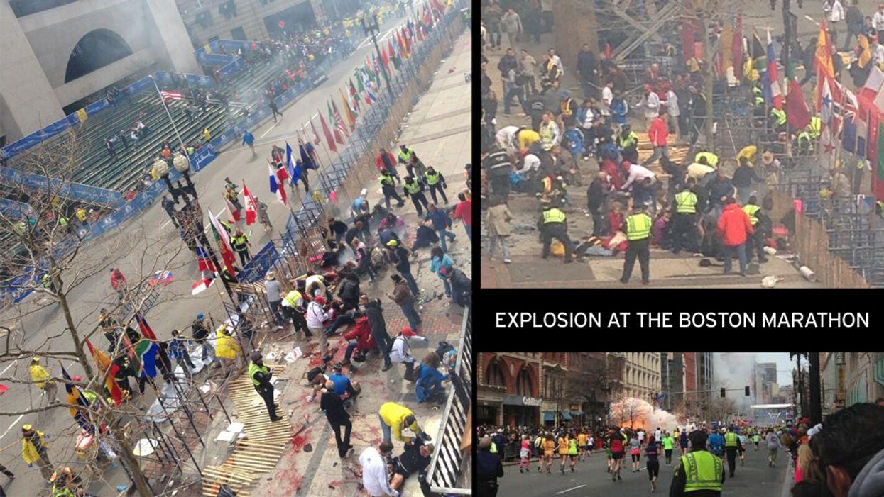 Two Large Explosions Shock Boston Marathon